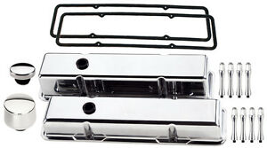 Billet Specialties Polished Tall Valve Covers breather oil Cap acn sbc aluminum