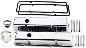 Billet Specialties Polished Tall Valve Covers breather oil Cap hex sbc aluminum