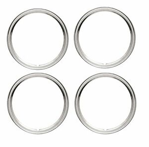 14 Rim Trim Ring Wheel Rings Tire Wheel Stainless Steel Trim Set Of 4