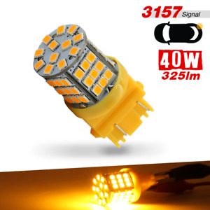 1x 3156 3157 High Power 57 Smd Led Amber Yellow Turn Signal Light Bulb