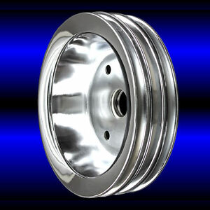 Crankshaft Pulley 3 Groove For Small Block Chevy Swp 283 327 350 400 Chrome Sbc