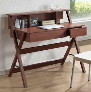 Contemporary Computer Desk Table Home Office Furniture Workstation Wood Oak New