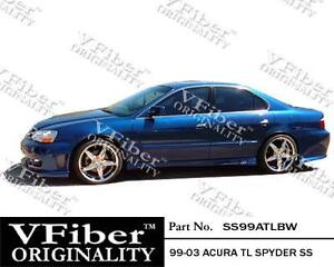 1999 2003 Acura Tl 4dr Vfiber Body Kit Spyder Side Skirt