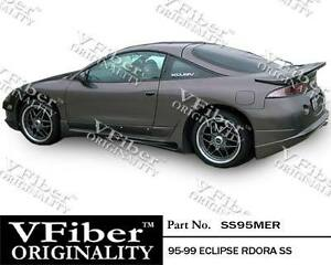 1995 1999 Mitsubishi Eclipse Hb Vfiber Body Kit Rdora Side Skirt