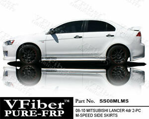 2008 2012 Mitsubishi Lancer 4dr Vfiber Body Kit M speed Side Skirt