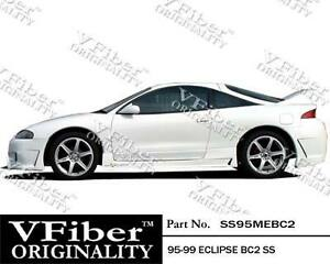 1995 1999 Mitsubishi Eclipse Hb Vfiber Body Kit Bc2 Side Skirt