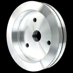 Billet Aluminum 2 Groove Crankshaft Pulley For Big Block Chevy Swp 396 427 454