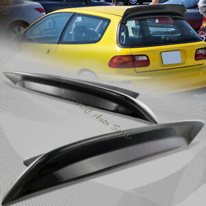 For Honda Civic 3dr Hatchback Cx Dx Si Abs Black Painted Rear Duck Spoiler Wing