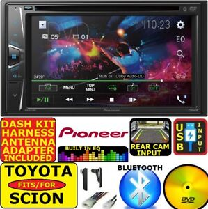 Toyota Scion Pioneer Dvd Cd Bluetooth Bt Usb Aux Car Radio Stereo Double Din