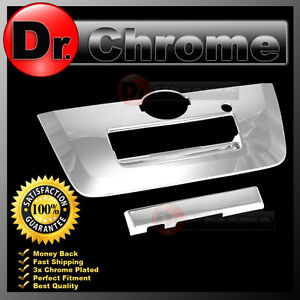 Triple Chrome Tailgate Handle W Camera Hole Cover 2013 For 13 15 Nissan Frontier
