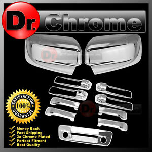 09 15 Dodge Ram Chrome Mirror No Light 4 Door Handle Tailgate W Kh W Cm Cover
