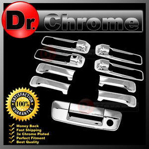 09 17 Dodge Ram 1500 2500 3500 Hd Chrome 4 Door Handle Tailgate W Keyhole Cover