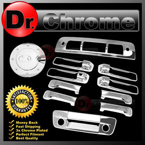 09 15 Dodge Ram Chrome 4 Door Handle Tailgate Kh Camera Hole Gas 3rd Brake Cover