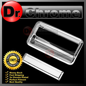 88 98 Gmc C1500 C2500 C3500 Pickup Triple Chrome Plated Tailgate Handle Cover
