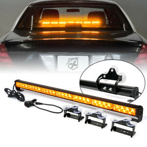 Xprite 31 28 Led Linear Light Bar Traffic Advisor Flash Warning Strobe Amber