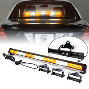 Xprite 31 28 Emergency Warning Strobe Led Light Bar Traffic Advisor Amber White