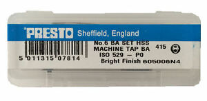 Presto Uk 6ba Taps And Dies Hss First Second Plug Direct From Rdgtools