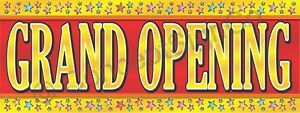 2 x5 Grand Opening Banner Outdoor Indoor Sign Sale Now Opens Coming Soon Stars