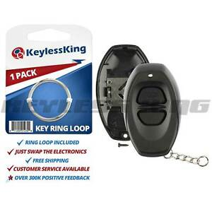 New Replacement Keyless Entry Remote Key Fob Case Shell Pad For Rs3000 Black