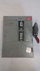 General Electrictg3222 Model 6 240vac 250dc 60 Amp Fusible Disconnect 1phase