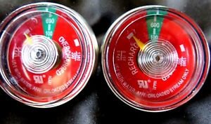 Lot Of 2 100 Psi Pressure Gauge For Portable Water Pressure Fire Extinguisher