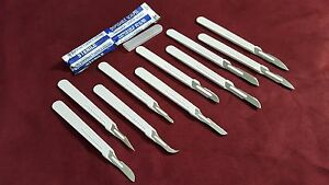100 Assorted Disposable Sterile Scalpels 10 11 12 15 16 20 21 22 23 24