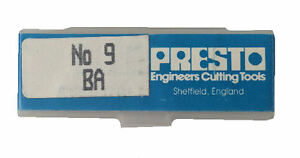 Presto Uk 9ba Taps And Dies Hss First Second Plug Direct From Rdgtools