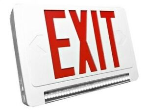 Ciata Lighting Exit Sign And Emergency Lightpipe led Combo W Battery Backup