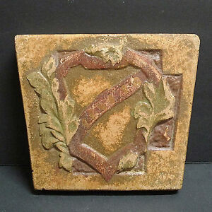 Markoff Vintage Heraldic Fireplace Tile California