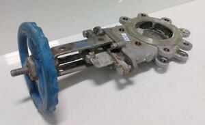 Velan Size 1 Knife Gate Valve Model b L12 0310c 13sl