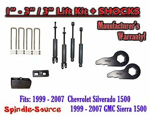 1999 2006 Chevy Gmc 1500 Silverado Sierra 1 3 Keys 3 Leveling Kit Shocks
