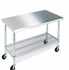 Work Table With Stainless Steel Top 49 Free Sh pp ng