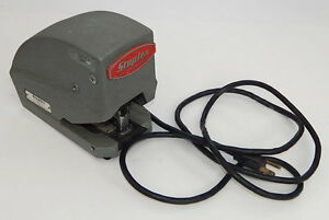 Vintage Staplex Sjm 1 3 Electric Desk Stapler Industrial Heavy Duty Tested