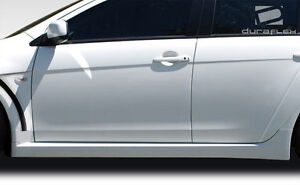 08 15 Mitsubishi Lancer Duraflex Evo X Look Side Skirts Rocker Panels 2pc 106954