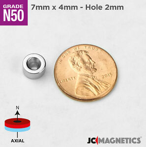 7mm X 4mm Hole 2mm Countersunk Ring Rare Earth Fridge Crafts Magnets