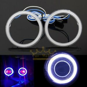 2x 95mm Cob Angel Eyes Halo Rings Drl Led Headlight Car Motorcycle Universal New