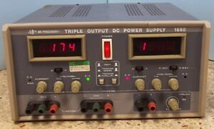 Bk Precision Model 1660 Triple Output Dc Power Supply 120v 50 60hz 300watts