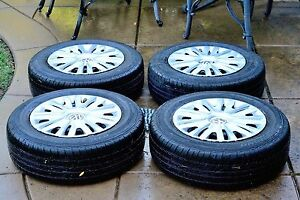 Set Of 4 Sumitomo Htr A s Po1 P195 65r15 91h M s Tires On 15x6 Wheels W Hudcaps