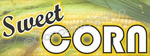 3 x8 Sweet Corn Banner Outdoor Sign Large Farm Fresh Stand Farmers Market Cob