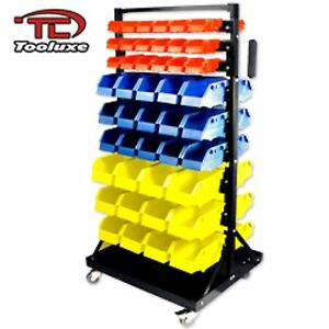 Organizer Parts Rack With 90 Bin Tool Storage Hobby