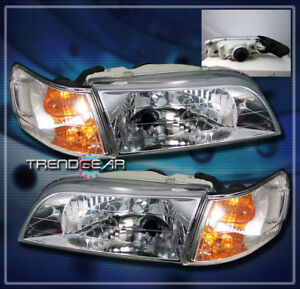 1993 1997 Toyota Corolla Crystal Head Lights corner Signal Chrome 1994 1995 1996