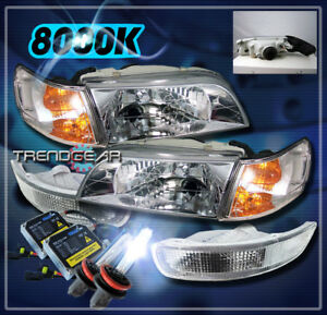 1993 1997 Toyota Corolla Crystal Head Lights corner bumper hid 8k Kit Jdm Chrome