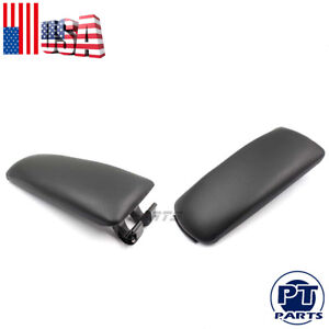 New Black Leather Armrest Center Box Console Lid Cover For 2004 2007 Audi A4 B7