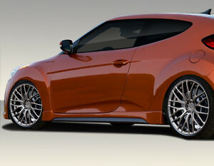 For 12 15 Hyundai Veloster Duraflex Turbo Look Side Skirts 2pc 108846