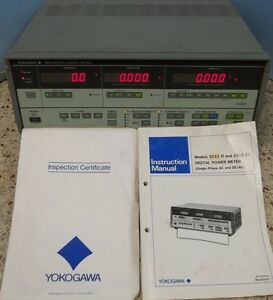 Yokogawa Electric Corp 2533 Digital Power Meter Model No 253311 110 90 Vac