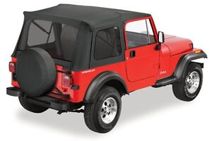1976 1995 Jeep Wrangler Cj7 Bestop Supertop Soft Top Kit For Full Doors Black