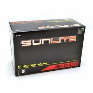 SUNLITE INNER TUBE SCHRADER VALVE 26X1.95-2.125 32mm TUBE TIRE BIKE BICYCLE NEW $12.95