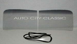 2pc Windshield Glass And Gasket W chrm 1947 1953 Chevy Gmc Pickup Truck Grey