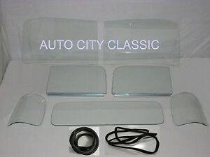 1947 1950 Chevrolet Gmc Pickup Truck Clear Windshield Assembled Doors Back Glass