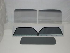 Glass 1947 1950 Chevy Gmc Pickup 2pc Windshield Assembled Door Back Grey